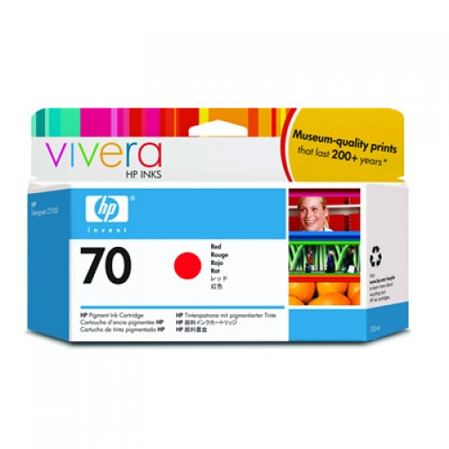 HP 70 C9456A Red Ink Cartridge 130ml for HP Designjet Z3100