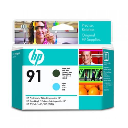 HP 91 C9460A Dual Col. Printhead Matte Black & Cyan for HP Designjet Z6100