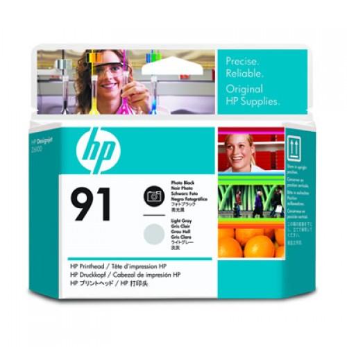 HP 91 C9463A Dual Col. Printhead Photo Black & Light Grey for HP Designjet Z6100