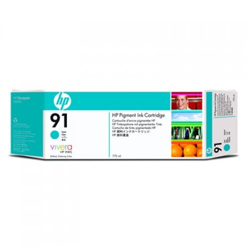 HP 91 C9467A Cyan Ink Cartridge 775ml for HP Designjet Z6100