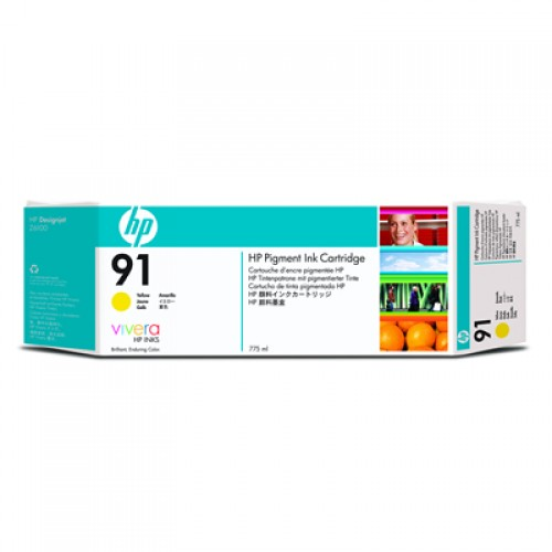 HP 91 C9469A Yellow Ink Cartridge 775ml for HP Designjet Z6100