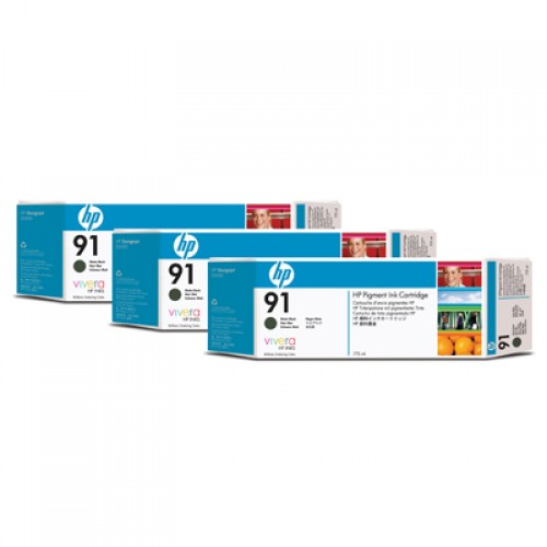 HP 92 C9480A Black Ink Cartridge Triple Pack x 775ml for HP Designjet Z6100