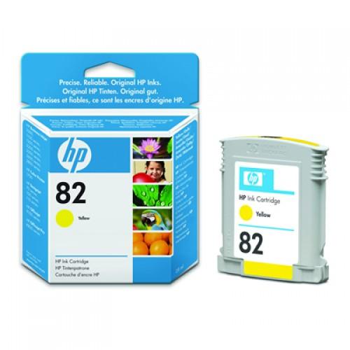 HP No. 82 Dye Ink Cartridge Yellow 28ml CH568A for HP Designjet 510