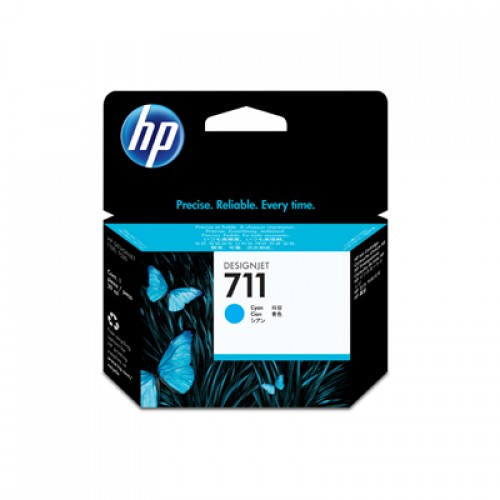 HP CZ134A No. 711 3 x 29ml Cyan Ink Cartridge - Multipack