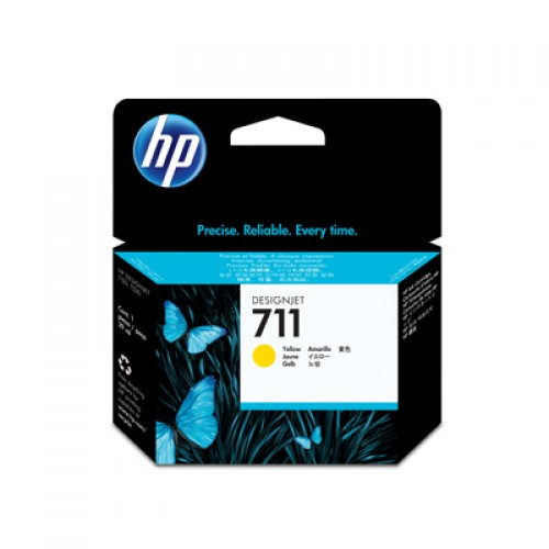 HP CZ136A No. 711 3 x 29ml Yellow Ink Cartridge - Multipack